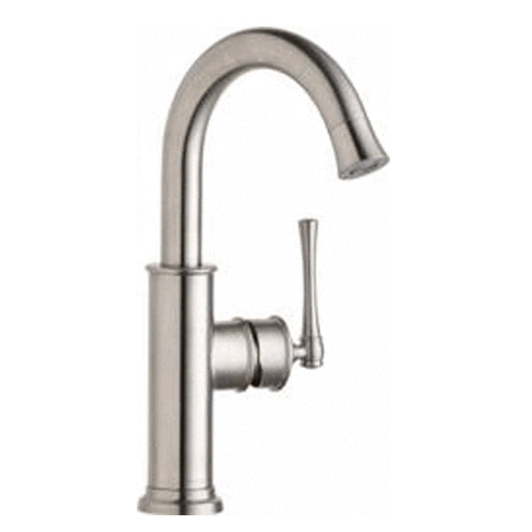 Elkay kitchen faucet Lustrous Steel Elkay Explore Single Hole Bar Faucet with Forward Only Lever Handle Lustrous Steel
