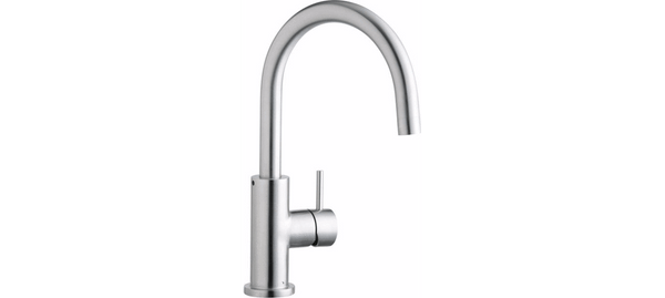 Elkay kitchen faucet Satin Stainless Elkay Allure Single Hole Kitchen Faucet with Lever Handle Satin Stainless Steel