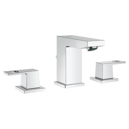 "Grohe Bathroom Sink Faucet StarLight Chrome Grohe ""Eurocube"" 8'' Widespread Bathroom Sink Faucet"