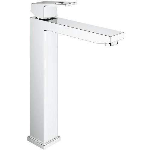 "Grohe Bathroom Sink Faucet Starlight Chrome Grohe ""Eurocube"" basin XL Single Hole Bathroom Sink Faucet"