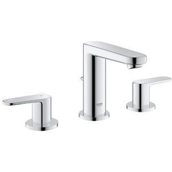 "Grohe Bathroom Sink Faucet StarLight Chrome Grohe ""Europlus"" 8'' Widespread Bathroom Sink Faucet"