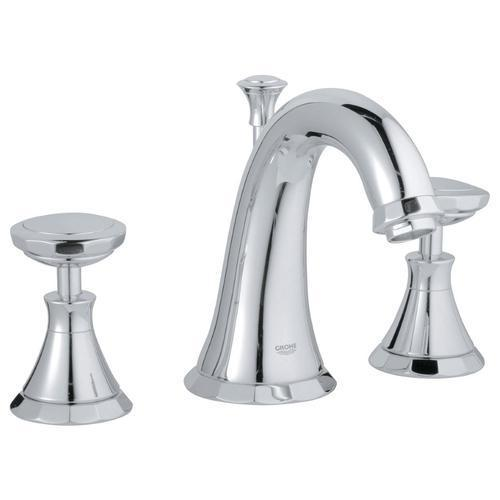 "Grohe Bathroom Sink Faucet StarLight Chrome Grohe ""Kensington"" 8'' Widespread Bathroom Sink Faucet"
