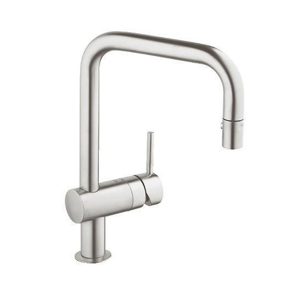 Grohe Kitchen Dual Spray SuperSteel Grohe Minta Kitchen Dual Spray Pull Down Super Steel