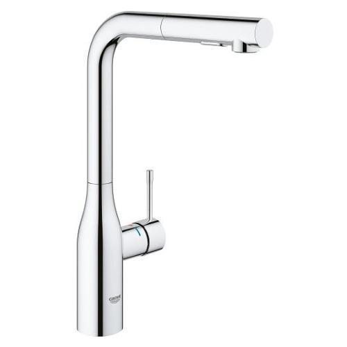 "Grohe Kitchen Faucet StarLight Chrome Grohe ""Essence"" Pull-Out Spray Kitchen Faucet"