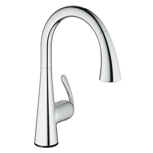 "Grohe Kitchen Faucet StarLight Chrome Grohe ""Ladylux3"" Pull-Out Spray Kitchen Faucet"