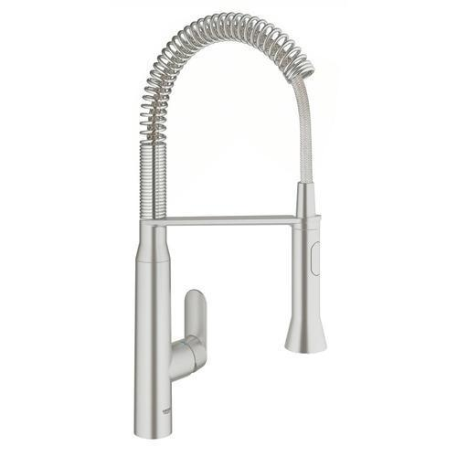"Grohe Kitchen Faucet Super Steel Grohe ""K7"" Pull-Out Spray Kitchen Faucet"