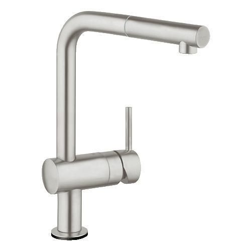 "Grohe Kitchen Faucet Super Steel Grohe ""Minta Touch"" Pull-Out Spray Kitchen Faucet"