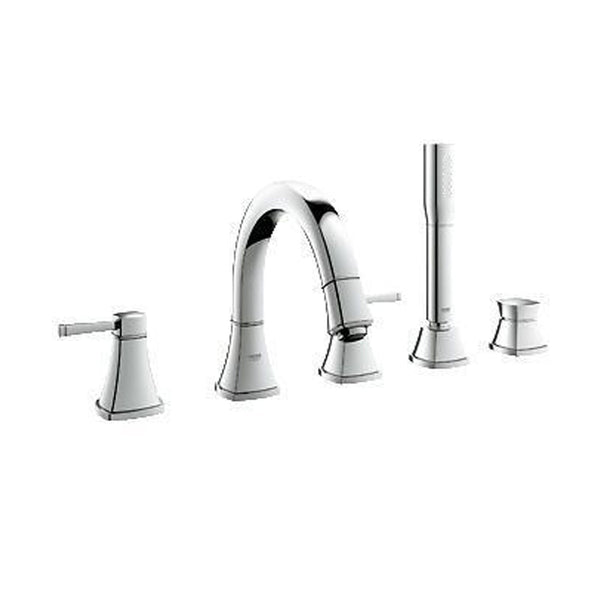 "Grohe Tub & Shower StarLight Chrome Grohe ""Grandera"" Deck Mount Tub Faucet With Handshower"