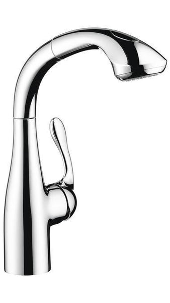 "Hansgrohe Kitchen Faucet Chrome Hansgrohe ""Allegro E"" Pull-Out Spray Prep Kitchen Faucet"