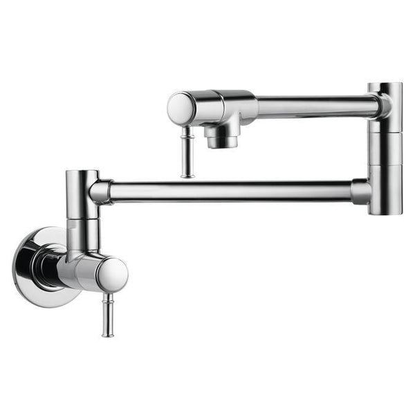 "Hansgrohe Kitchen Faucet Chrome Hansgrohe ""Talis C"" Pot Filler Wall Mounted Kitchen Faucet"