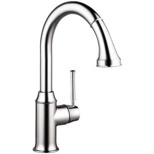 "Hansgrohe Kitchen Faucet Chrome Hansgrohe ""Talis C"" Pull-Out Spray Kitchen Faucet"