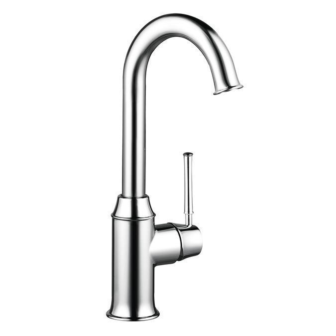 "Hansgrohe Kitchen Faucet Chrome Hansgrohe ""Talis C"" Single Hole Bar Kitchen  Faucet"