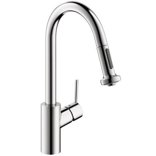 "Hansgrohe Kitchen Faucet Chrome Hansgrohe ""Talis S2"" Pull-Out Spray Kitchen Faucet"