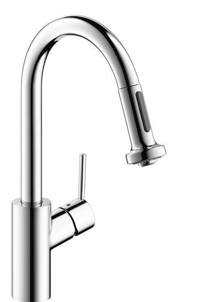 "Hansgrohe Kitchen Faucet Chrome Hansgrohe ""Talis S2"" W/2 Spray Pull Down Prep Kitchen Faucet"