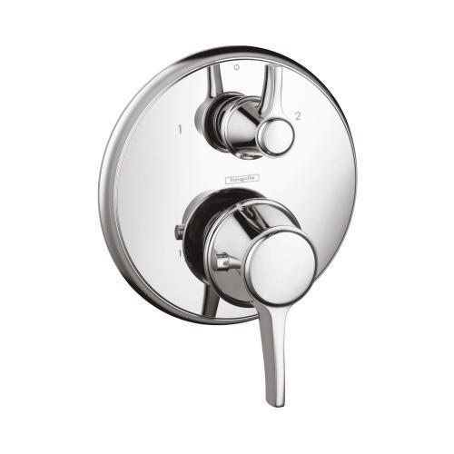 "Hansgrohe Thermostatic Chrome Hansgrohe H15753821 ""Metris C"" Thermostatic Trim w/Volume Control & Diverter"