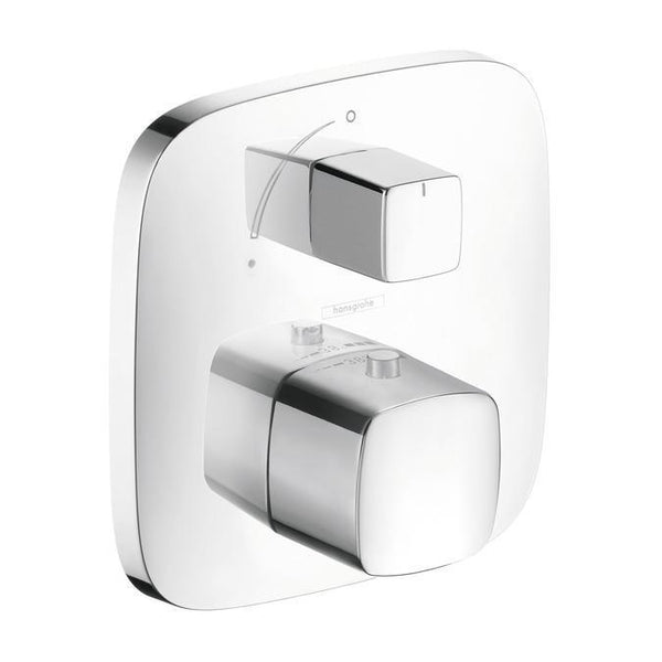 "Hansgrohe Thermostatic Chrome Hansgrohe ""PuraVida"" Thermostatic  w/Volume Control Valve Trim"