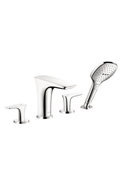 "Hansgrohe Tub Faucet Chrome Hansgrohe ""PuraVida"" 4 Hole Roman Tub Faucet Trim Kit"