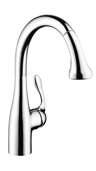 "Kitchen Faucet Hansgrohe Chrome Hansgrohe ""Allegro E"" Pull-Out Spray Kitchen Faucet"