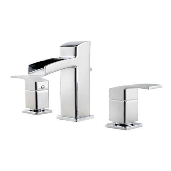 "Pfister bathroom sink faucet Chrome Pfister ""Kenzo"" 8'' Widespread Bathroom Sink Faucet"