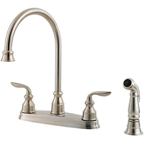 "Pfister kitchen faucet Stainless Steel Pfister ""Avalon"" Two Handle Kitchen Faucet"