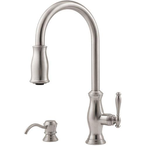 "pfister kitchen faucet Stainless Steel Pfister ""Hanover"" Pull-Out Spray Kitchen Faucet"