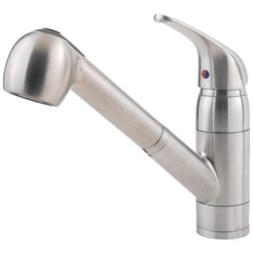 "Pfister kitchen faucet Stainless Steel Pfister ""Pfirst"" Pull-Out Spray Kitchen Faucet"