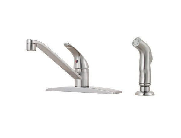 "Pfister kitchen faucet Stainless Steel Pfister ""Pfirst"" Single Handle Kitchen Faucet"