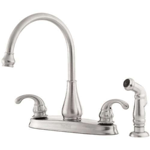 "Pfister kitchen faucet Stainless Steel Pfister ""Treviso"" Two Handle Kitchen Faucet"