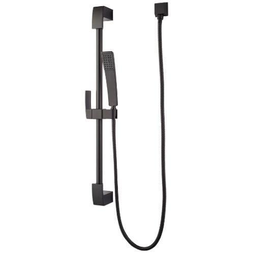"Pfister Tub & Shower Black Pfister ""Kenzo"" Slidebar Mount Hand Shower"