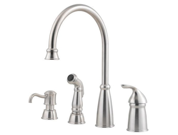 "Pfister Tub & Shower Stainless Steel Pfister ""Avalon"" Single Handle Kitchen Faucet"