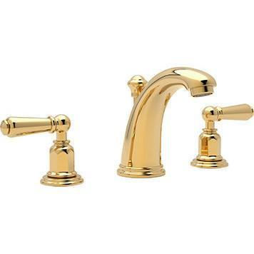 rohl bathroom sink faucet Rohl U.3760LIB-2 Edwardian 3 Hole High Arc Spout Widespread Lavatory Faucet
