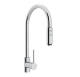 "rohl kitchen faucet Polished Chrome ROHL ""MODERN ARCHITECTURAL"" PULL-OUT SPRAY KITCHEN FAUCET"