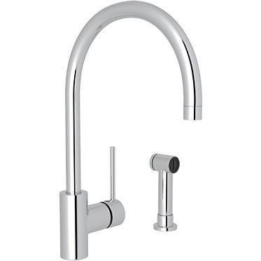 rohl kitchen faucet Rohl LS457LAPC-2 Modern Side Lever Kitchen Faucet with Sidespray