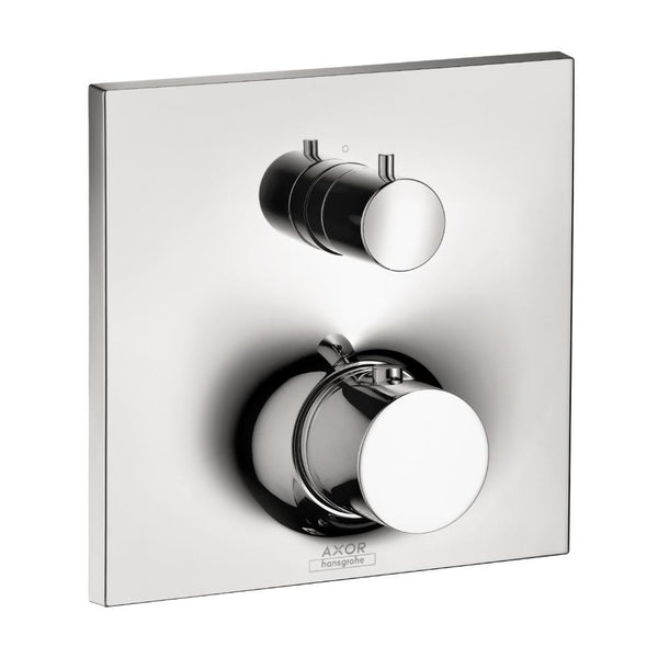 "tapandfaucet.com Chrome AXOR ""Massaud"" Thermostatic w/Volume Control & Diverter Trim"