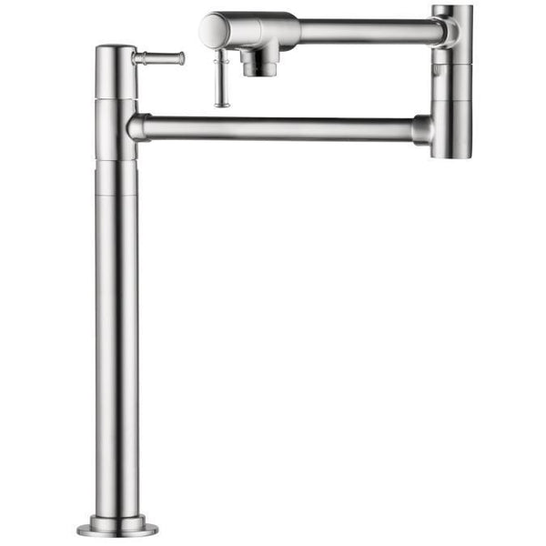 "tapandfaucet.com Chrome Hansgrohe ""Talis C"" Pot Filler  Deck Mounted Kitchen Faucet"