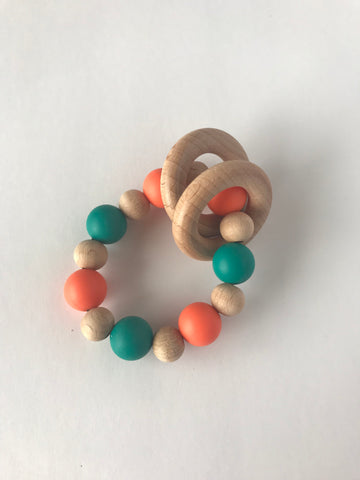 silicon teething ring by ever oh handmade