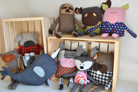 kiki b omi upcycled stuffed animals