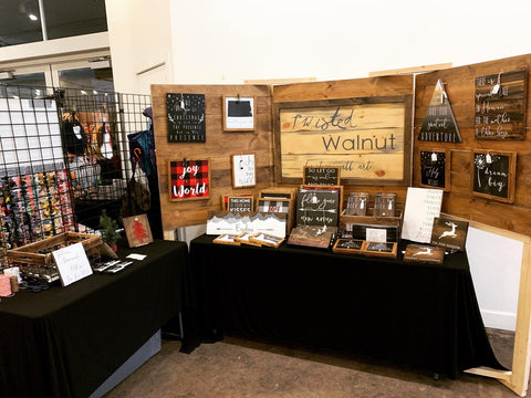craft show display the twisted walnut reclaimed wood signs custom signs