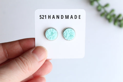 12mm Light Blue Stud (choose your setting)