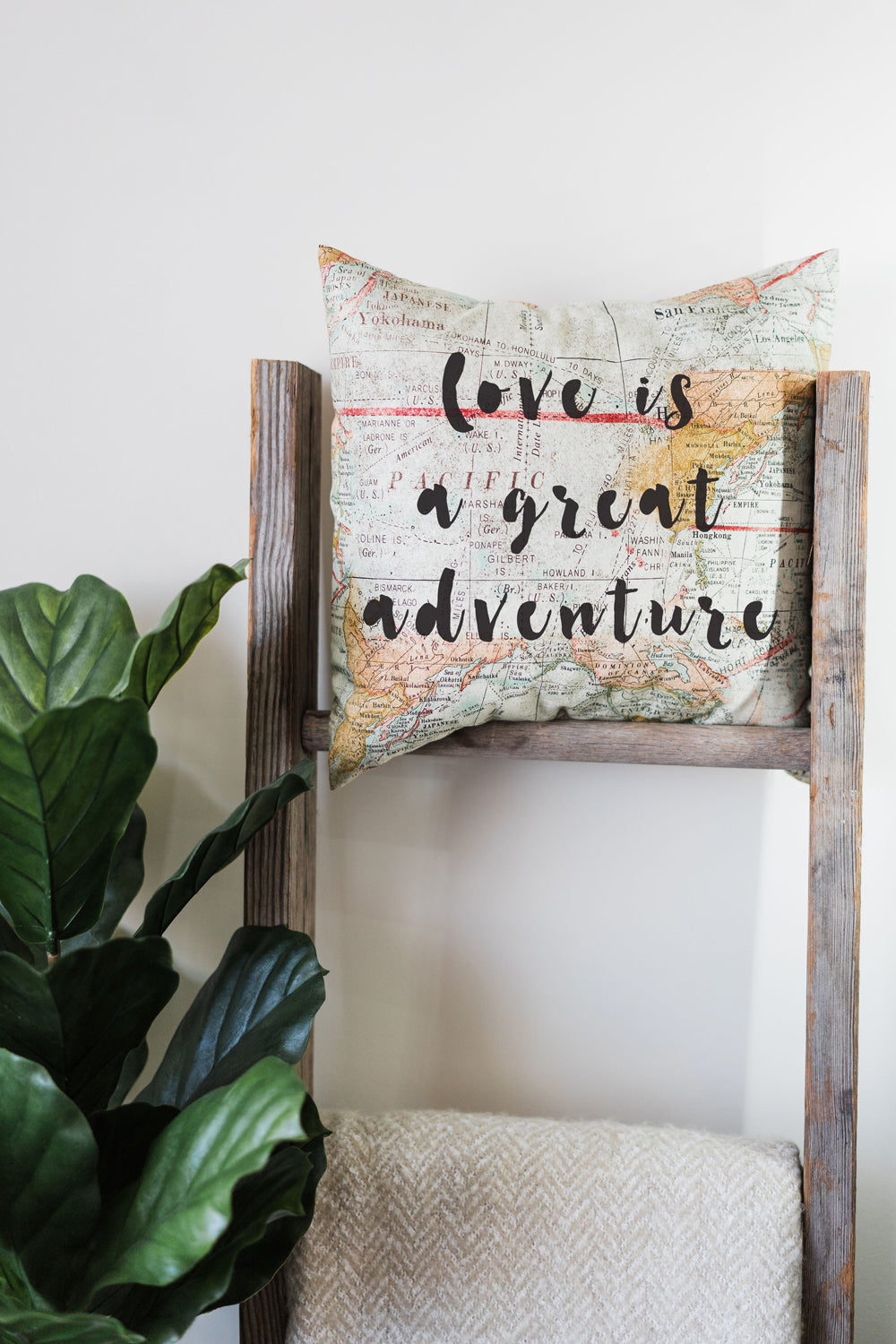 Love Is A Great Adventure Pillow