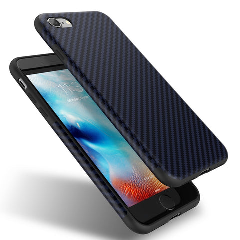 Carbon Fiber Soft Silicone Case For iPhone 7/7 Plus, iPhone 6/6S, Plus,Case - iGadgetfied