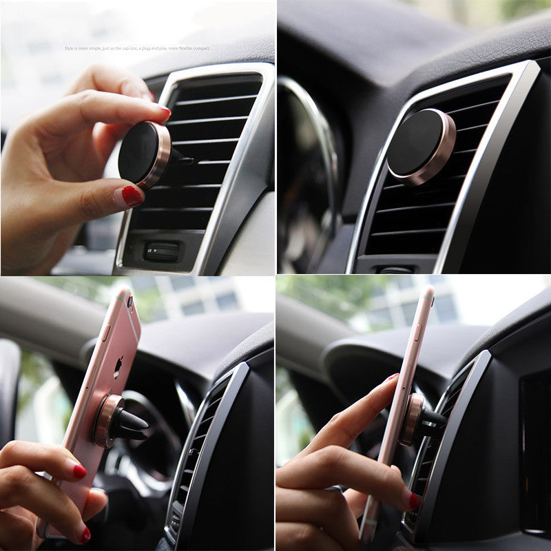 Car Phone Holder Strong Magnetic Air Vent Car Mount Aluminum Stand Universal For Mobile Phone iPhone 6 ZTE 360 Degree Rotate,Accessories - iGadgetfied