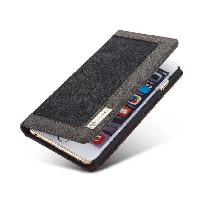 CaseMe Flip & Stand Denim Wallet  Case For iPhone 6/6S, Plus,Case - iGadgetfied