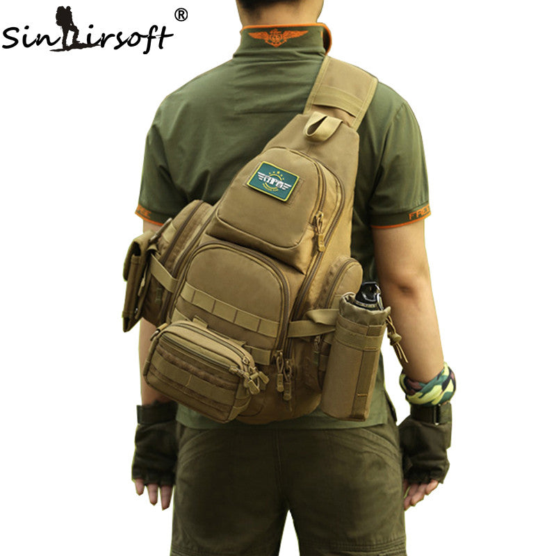 Men's Shoulder Sling Waterproof Travel Tactical Backpack,Gear - iGadgetfied