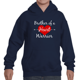 Brother of a Heart Warrior CHD Heart Defect Kids' Youth Hoodie Sweatshirt - Sunshine and Spoons Shop