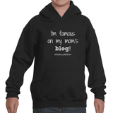 I'm Famous On My Mom's Blog Personalized Kids' Youth Hoodie Sweatshirt - Sunshine and Spoons Shop