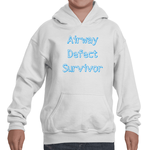 Airway Defect Survivor Tracheomalacia Laryngomalacia Kids' Youth Hoodie Sweatshirt