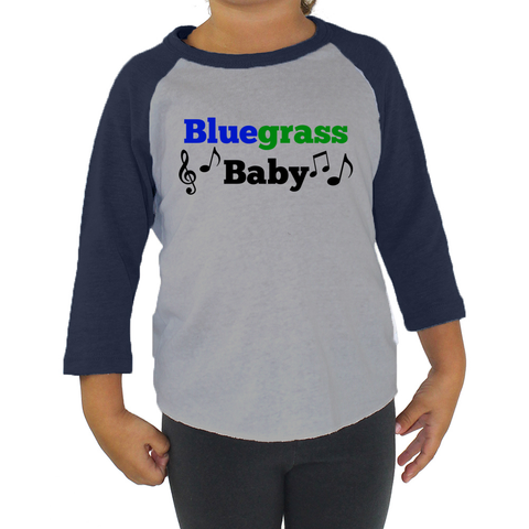 Bluegrass Baby Kids Raglan Baseball Shirt - Choose Color - Sunshine and Spoons Shop