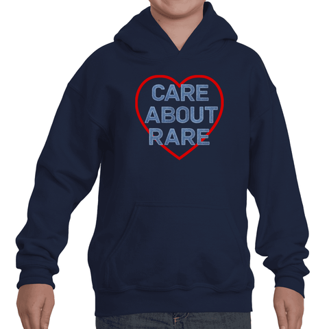 Care About Rare Disease Kids' Youth Hoodie Sweatshirt - Choose Color - Sunshine and Spoons Shop