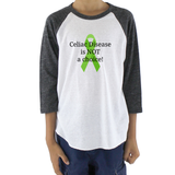 Celiac Disease is Not a Choice Kids Raglan Baseball Shirt - Choose Color - Sunshine and Spoons Shop